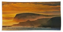 Bath Towel featuring the photograph Misty Island Sunset by Blair Stuart