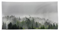 Misty Lions Gate View Bath Towel by Ross G Strachan