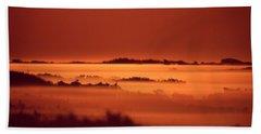 Misty Meadow At Sunrise Bath Towel
