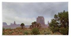 Misty Monument Valley Bath Towel