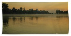 Misty Morning Lake Hand Towel