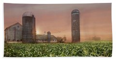 Misty Morning Maize Hand Towel