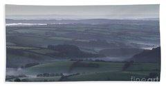 Misty Morning On Exmoor  Hand Towel