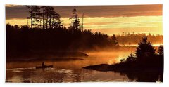 Bath Towel featuring the photograph Misty Morning Paddle by Larry Ricker