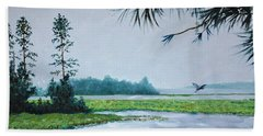 Misty Morning Hand Towel by Stanton Allaben