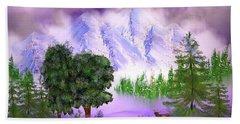 Misty Mountain Deer Hand Towel