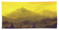 Misty Mountain Gold 01 Hand Towel