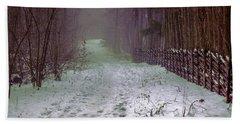 Misty Path #e5 Bath Towel by Leif Sohlman