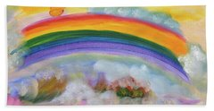 Misty Rainbow Bath Towel