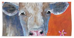 Hand Towel featuring the painting Misty by Suzanne Theis
