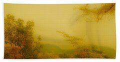 Misty Yellow Hue- El Valle De Anton Bath Towel