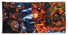 Mitosis Microbiology Landscapes Series Bath Towel