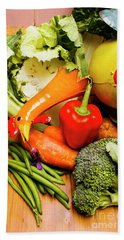 Mix Of Agriculture Produce Bath Towel