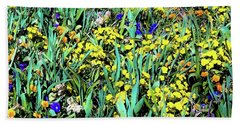 Bath Towel featuring the photograph Mixed Flower Garden 515 by D Davila