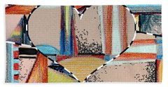Mixed Messages Bath Towel by Mindy Newman