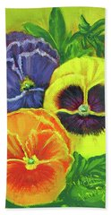 Mixed Pansy Seed Packet Hand Towel