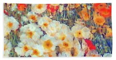 Mixed Poppies Hand Towel