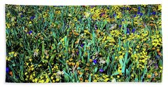 Bath Towel featuring the photograph Mixed Wildflowers In Texas by D Davila
