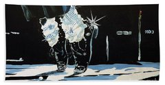 Mj On His Toes Bath Towel by Tom Riggs