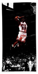 Mj Rises Hand Towel by Brian Reaves