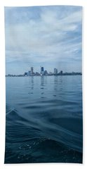 Mke Cityscape Hand Towel by Nikki McInnes