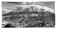 mMt. St.Helens Autumn in Black and White Hand Towel