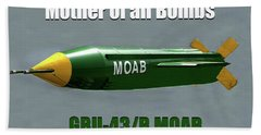 Bath Towel featuring the painting Moab Gbu-43/b by David Lee Thompson