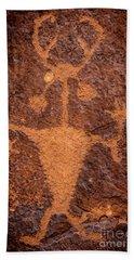 Moab Man Petroglyph Portrait - Utah Bath Towel