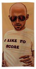 Moby Painting Hand Towel by Paul Meijering