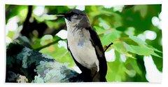 Mocking Bird Sings Bath Towel