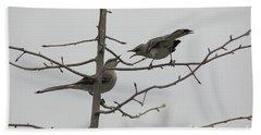 Mockingbirds Talk It Out Hand Towel