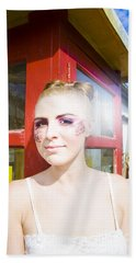 Model In Lace Makeup Hand Towel