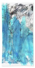 Modern Abstract Art - Blue Essence - Sharon Cummings Hand Towel