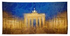 Modern Art Berlin Brandenburg Gate Hand Towel