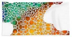 Modern Art - Colorforms 1 - Sharon Cummings Bath Towel