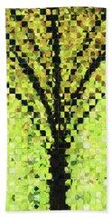 Modern Landscape Art - Pieces 10 - Sharon Cummings Bath Towel by Sharon Cummings