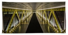 modern looking pedway in Chicago Hand Towel