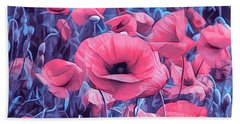 Modern Poppies Hand Towel