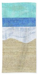 Modern Sandy Beach Hand Towel