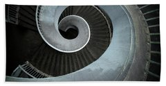 Bath Towel featuring the photograph Modern Spiral Stairs by Jaroslaw Blaminsky