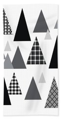Modern Triangle Trees- Art By Linda Woods Hand Towel