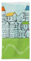 Modern Village Hand Towel