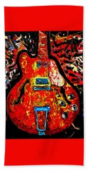 Modern Vintage Guitar Bath Towel