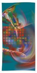 Hand Towel featuring the digital art Moebius City by Menega Sabidussi