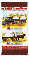 The Foden Steam Wagon Sandbach England Circa 1910 Bath Towel