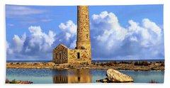 Mohawk Island Lighthouse Hand Towel by Anthony Dezenzio
