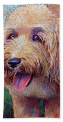 Mojo The Shaggy Dog Hand Towel