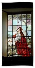 Mokuaikaua Church Stained Glass Window Bath Towel
