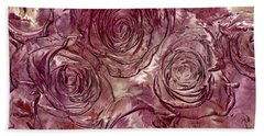 Molten Roses Abstract Realism Bath Towel