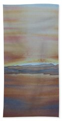 Bath Towel featuring the painting Moment By The Lake by Joel Deutsch